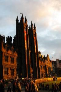 Sunset in Edinburgh, Scotland