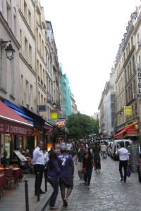 Street scene, Latin Quarter, Paris.