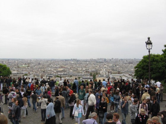 From the stairs in front of Sacre Couer