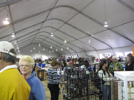 Inside one of the tent at Electric Park, Tucson Gem Show