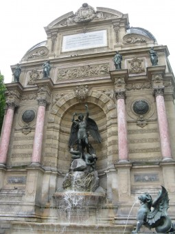 The fountain at Place St. Michel, Paris