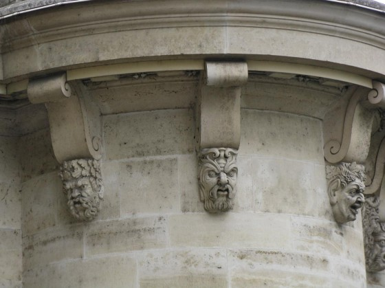 Faces on the Pont Neuf Bridge