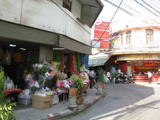 Typical street scene in Chiang Mai, Thailand