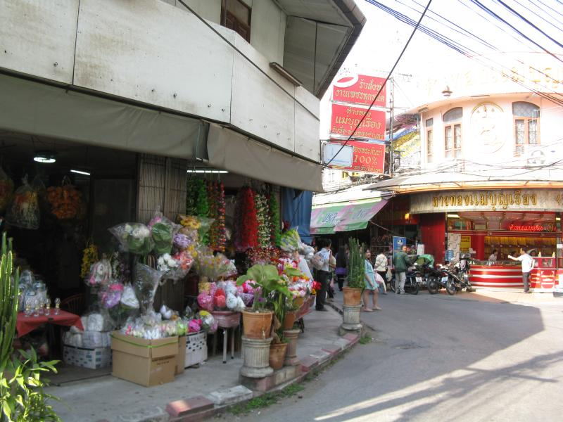 Typical street scene in Chiang Mai Thailand