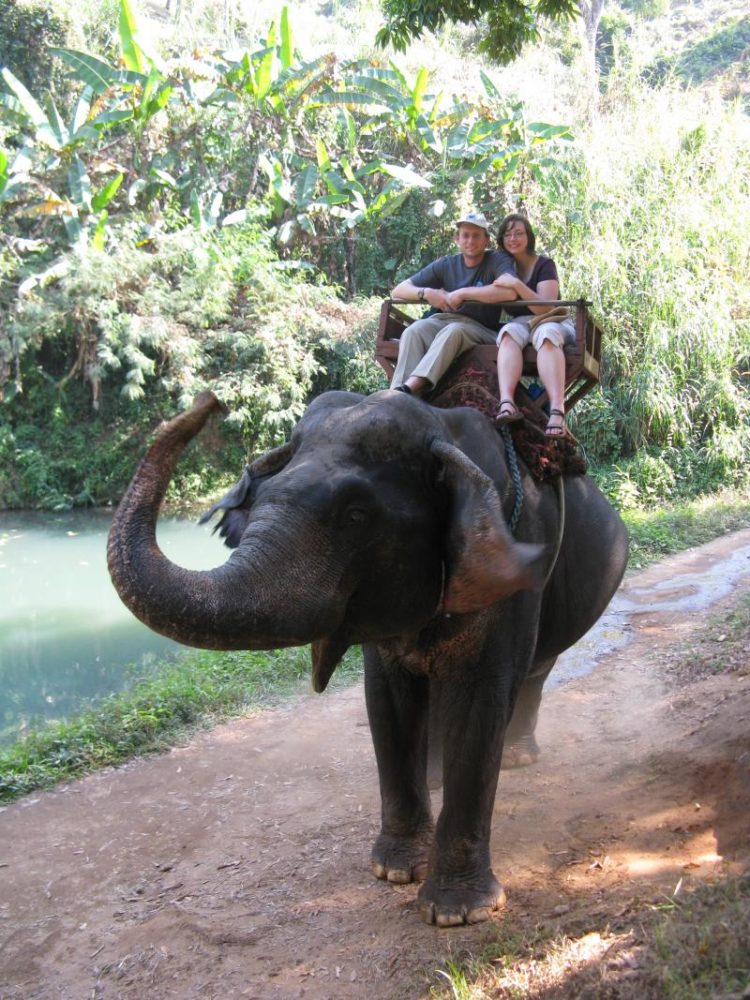 Our elephant ride in Thailand budget for Thailand