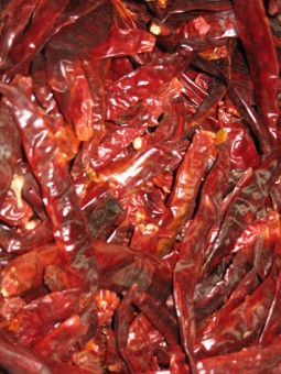 Thai chili peppers food in thailand