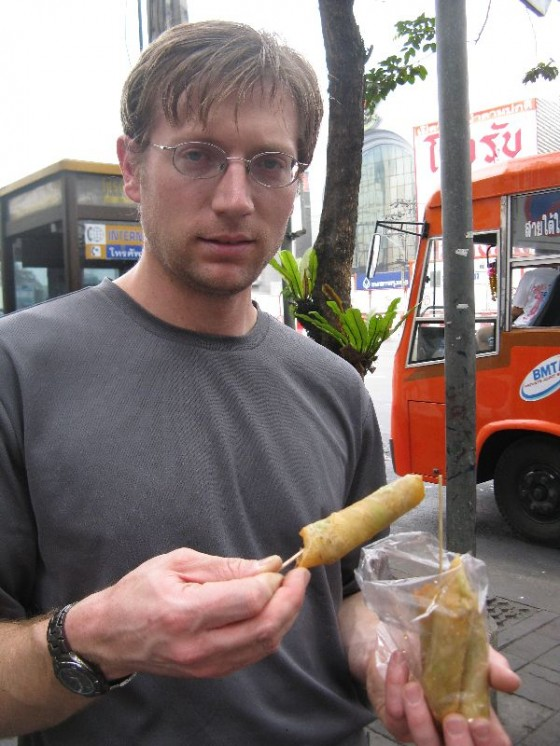 Street food egg rolls...yum!