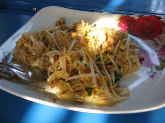 Pad thai from a street vendor