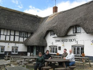The Red Lion Pub in Avebury, one of our lunch stops.