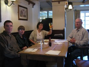 Lunch at Red Lion Pub in Avebury, UK