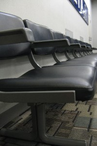 Seats at the MSP airport