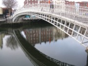 The Ha'penney bridge in Dublin