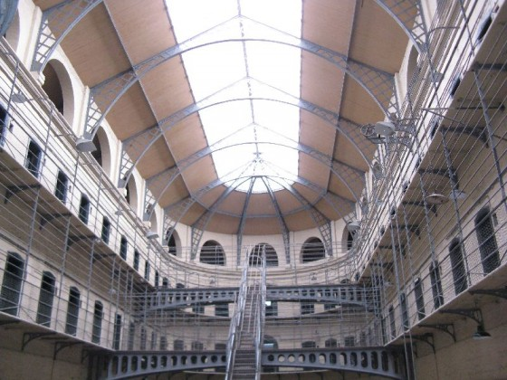 Kilmainham Gaol, a historic Victorian jail in Dublin, Ireland.