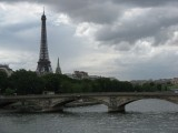 The Eiffel Tower and Seine River, Paris.
