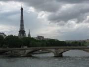 The Eiffel Tower and Seine River, Paris.
