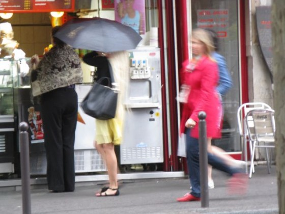 A typical Paris street scene