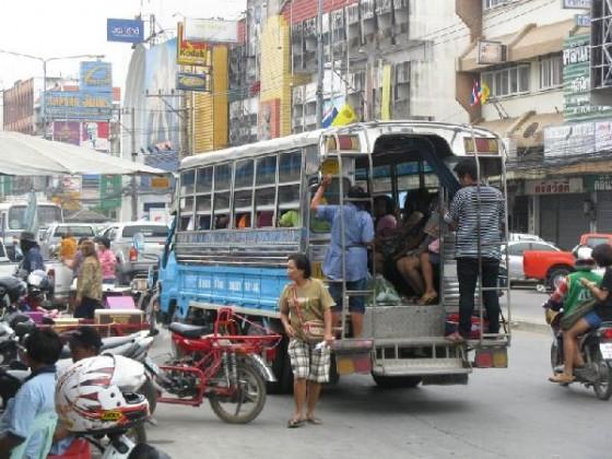 A local bus in Thailand