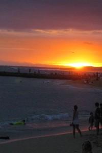 Hawaii Sunset from Waikiki Beach