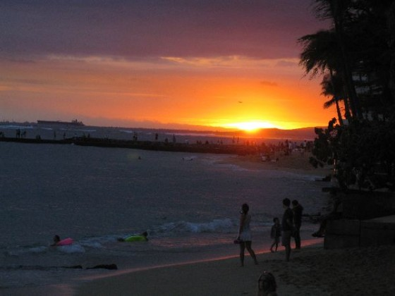 Hawaii Sunset from Waikiki Beach waikiki photo