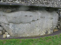Celtic Carvings at newgrange, Ireland