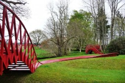 Some interesting looking bridges in the Garden of Cosmic Speculation in Dumfries, Scotland.
