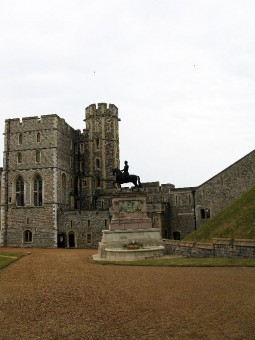 The inner courtyard of Windsor Castle.