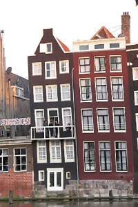 Buildings on the Canal in Amsterdam