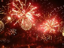 Bastille Day fireworks in Carcasonne France