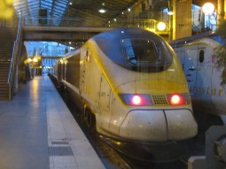 Eurostar train from Paris to London