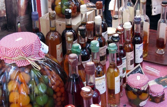 Local liqueurs (which we ended up buying some of) in the quaint little street market next to Sacre Couer Basilica in Paris.