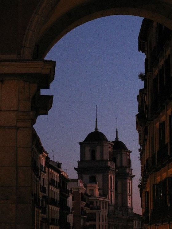Dusk pictures of Madrid Spain