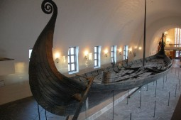 Viking ship in the Viking Museum in Olso, Norway.