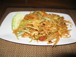 Thai Papaya Salad food in thailand