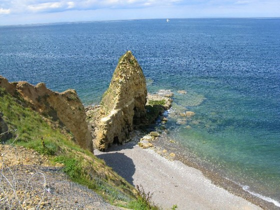 Pointe Du Hoc Monument Beach Normandy