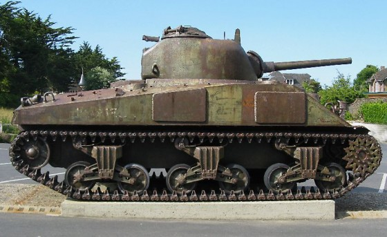 A tank in Normandy, France