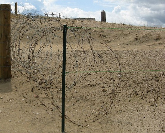 This barbed wire helps to recreate barriers on the beach that had been put in place by the Nazis hinder the Allies' progress.