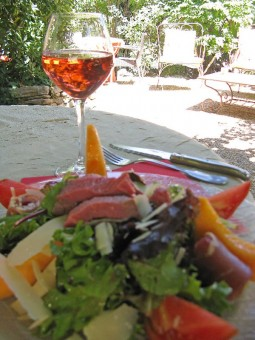 Lunch at La Girocedre, Puymeras, France