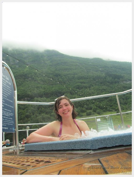Back deck hot tub on the Holland America Line MS Eurodam