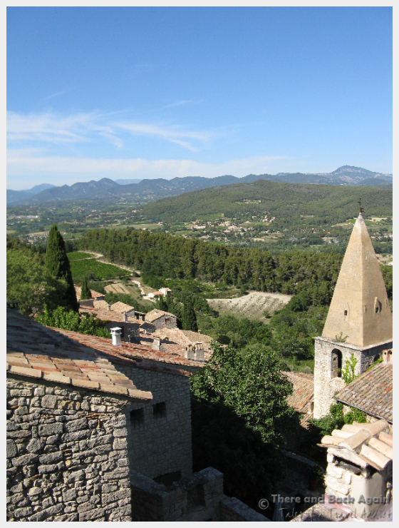 The view from the top of Le Crestet, France, after a grueling climb.
