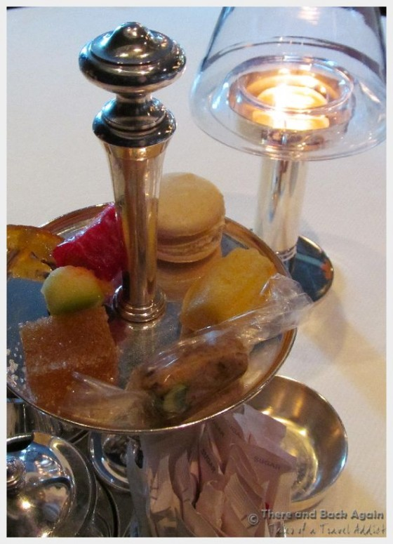 """Small sweets with coffee at Dinner on the MS Eurodam at """"An Evening at Le Cirque"""""""
