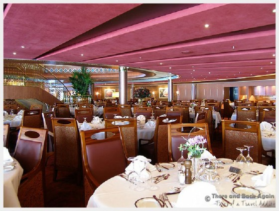 The Main dining room on Holland America Cruise