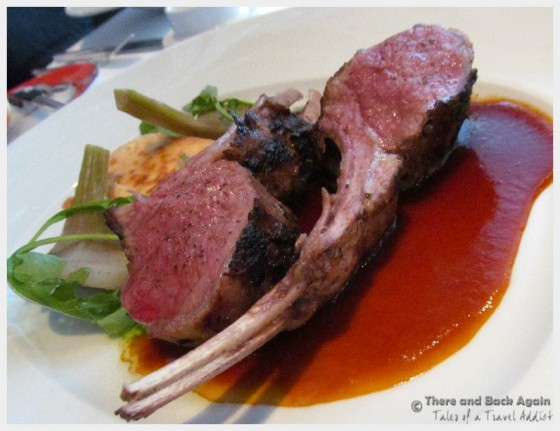 "Lamb chops for Dinner on the MS Eurodam at ""An Evening at Le Cirque"""