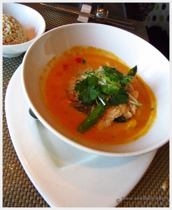 Red Chicken Curry at the Tamarind Restaurant on out Holland America Cruise