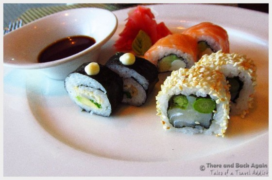 Sushi at the Tamarind Grill on our Holland America cruise