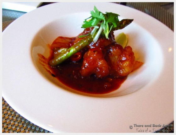 Szechuan Shrimp at the Tamarind on Holland America