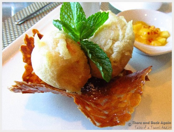 Tempura Ice Cream at the Tamarind, Holland America