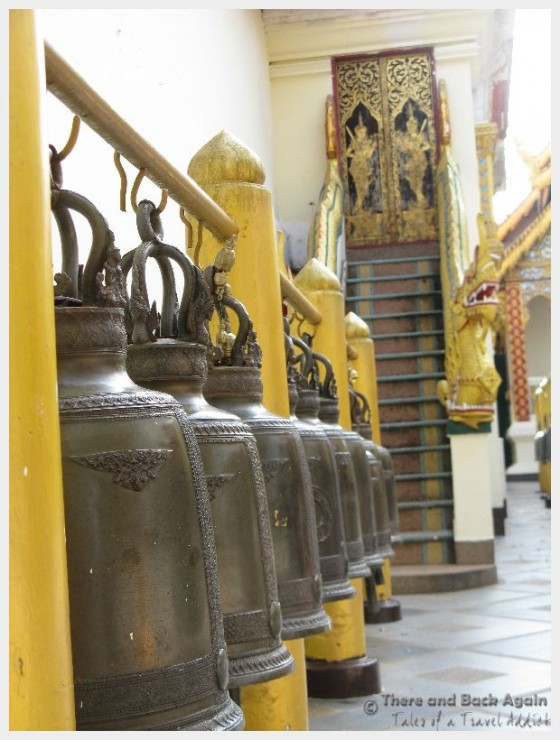 The bells at a temple in Thailand