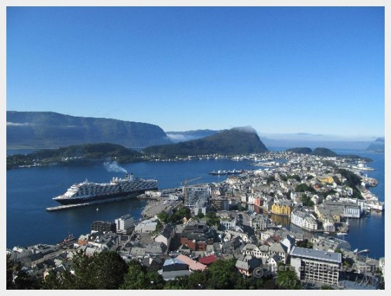 A scenic view of Alesund Norway