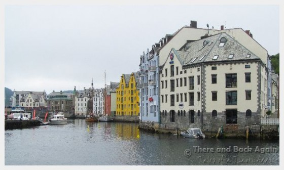 The canals in Alesund Norway