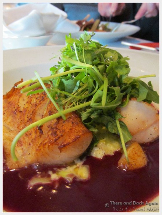 "Cod entree Dinner on the MS Eurodam at ""An Evening at Le Cirque"""